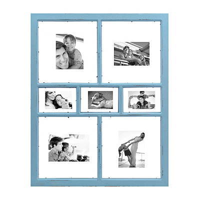 Blue Window Pane Collage Frame