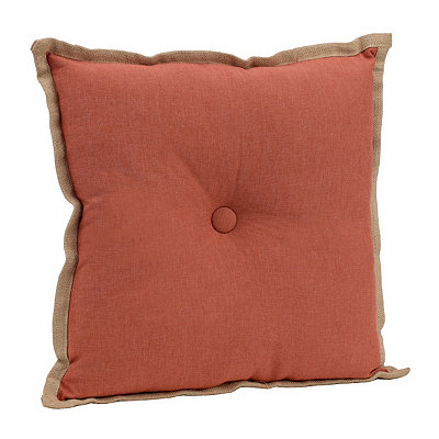 Coral Flange Button Pillow