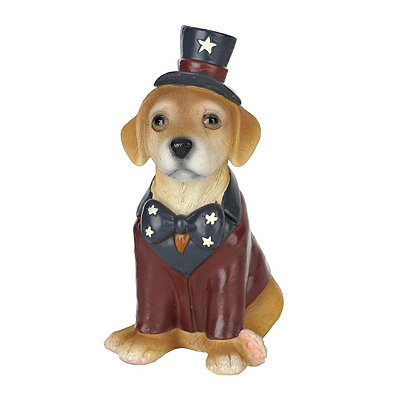 Patriotic Golden Retriever Statue
