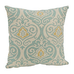 Aqua and Yellow Felicity Pillow