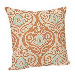 Aqua and Coral Felicity Pillow