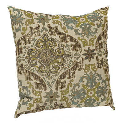 Aqua and Brown Vicenza Pillow