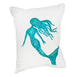 Aqua Mermaid Pillow