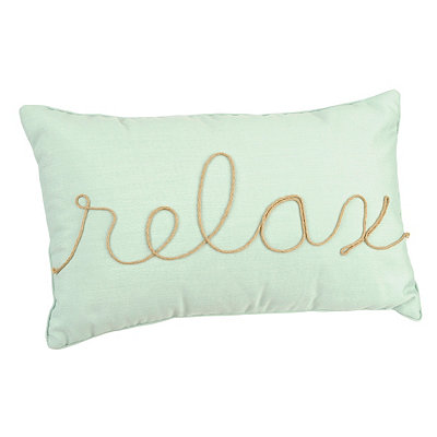 Jade Relax Rope Accent Pillow