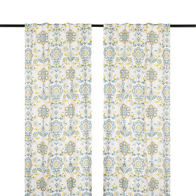 Clare Seafoam Curtain Panel Set, 84 in.