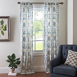 Clare Seafoam Curtain Panel Set, 84 in.