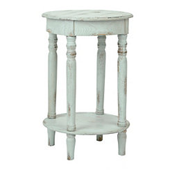 Distressed Light Blue Side Table