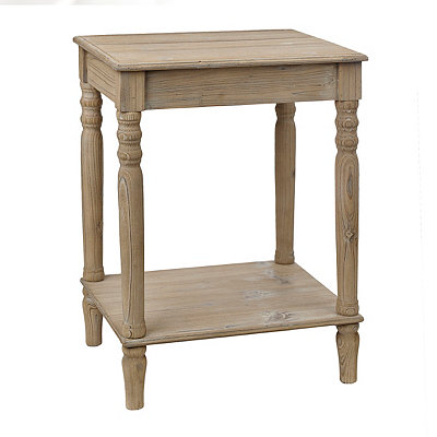Distressed Natural Side Table