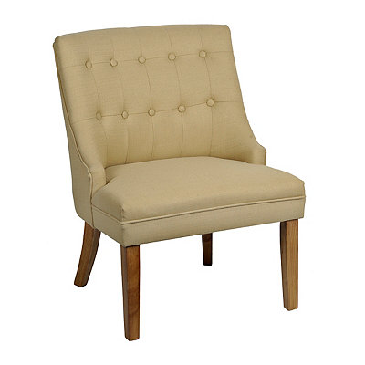 Eva Tufted Tan Accent Chair
