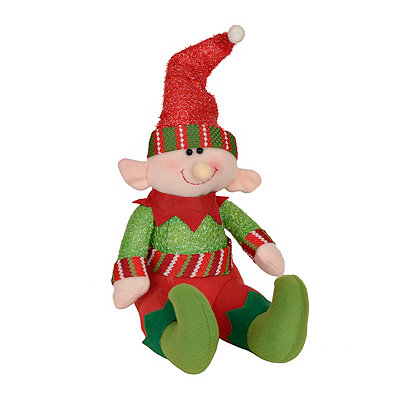 Plush Red Hat Elf