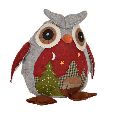Plush Patchwork Barn Owl