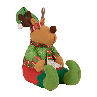 Plush Elf Reindeer Shelf Sitter
