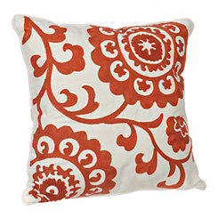 Coral Suzani Stitched Pillow