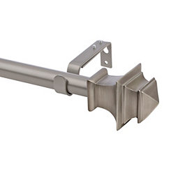 Silver Square Curtain Rod, 66 in.