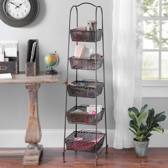 Bronze Metal Basket Tower