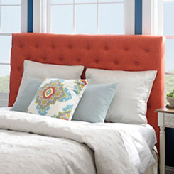 Spice Linen Tufted King Headboard