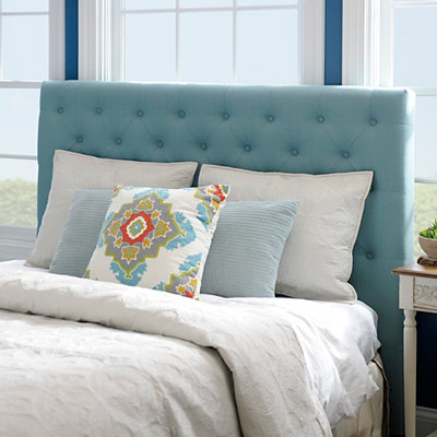 Laguna Turquoise Tufted Queen Headboard