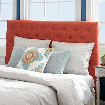 Spice Linen Tufted Queen Headboard