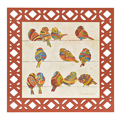 Birds of Color II Framed Art Print