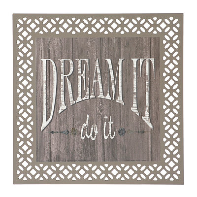 Laser Cut Dream Wood Plaque