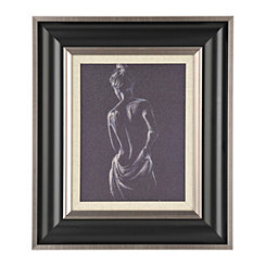 Figurative Study in Charcoal I Framed Art Print
