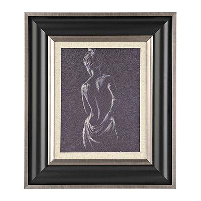 Figurative Study in Charcoal I Framed Art Print