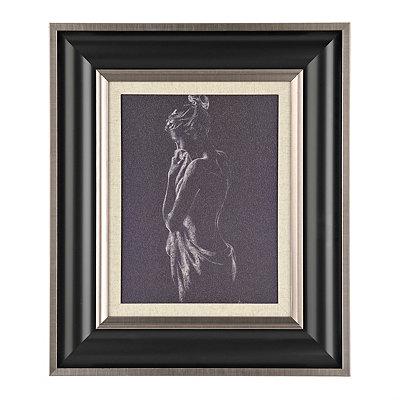 Figurative Study in Charcoal II Framed Art Print