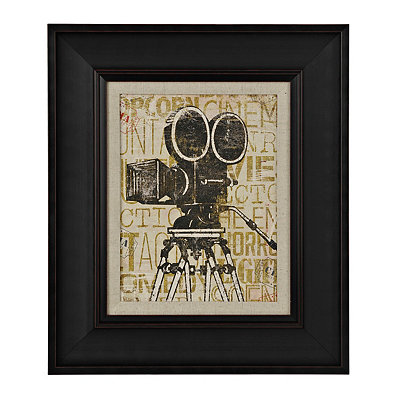 Golden Cinema Camera Framed Art Print