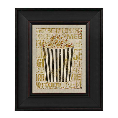 Golden Cinema Popcorn Framed Art Print