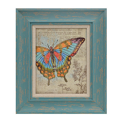 Butterfly Newsprint II Framed Art Print