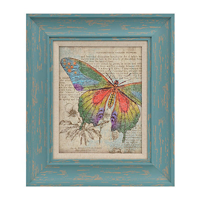 Butterfly Newsprint I Framed Art Print