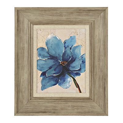 Ophelia Blue Floral I Framed Art Print