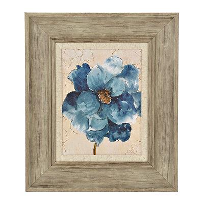 Ophelia Blue Floral II Framed Art Print
