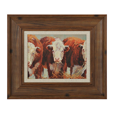 Three of a Kind Cows Framed Art Print