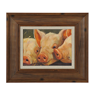 Three of a Kind Pigs Framed Art Print