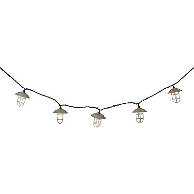 Silver Cage String Lights