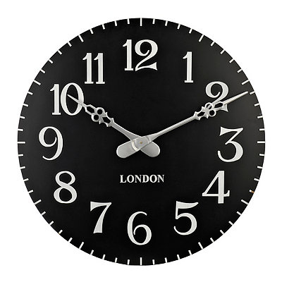 Black and White Paige Clock