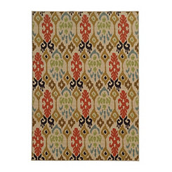 Abstract Ikat Antioch Area Rug, 5x7