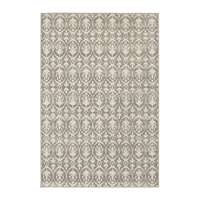 Gray Wheat Walker Area Rug, 5x8