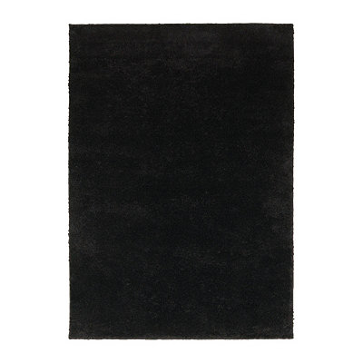 Black Helena Shag Area Rug, 5x7