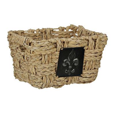 Woven Fleur-de-lis Medallion Basket, Medium