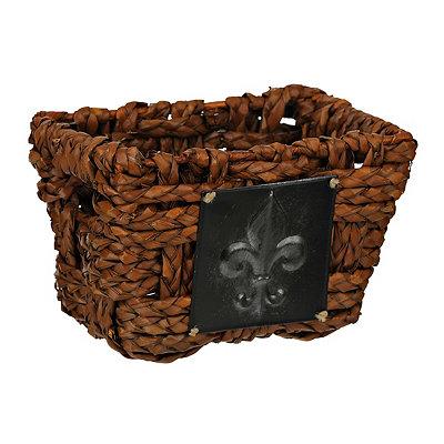 Woven Fleur-de-lis Medallion Basket, Small