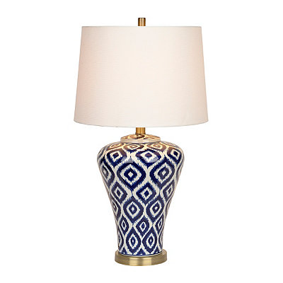 Blue Ikat Ceramic Table Lamp