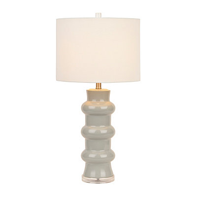 Gray Ceramic Rings Table Lamp