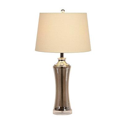 Sleek Smoked Glass Table Lamp