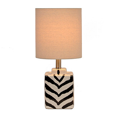 Square Zebra Table Lamp