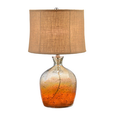 Pearlized Sunset Glass Table Lamp