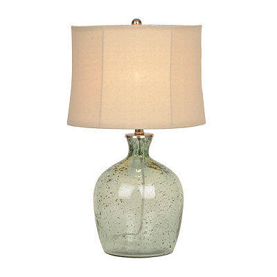 Sea Green Sunset Glass Table Lamp