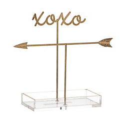 Gold XOXO Jewelry Organizer