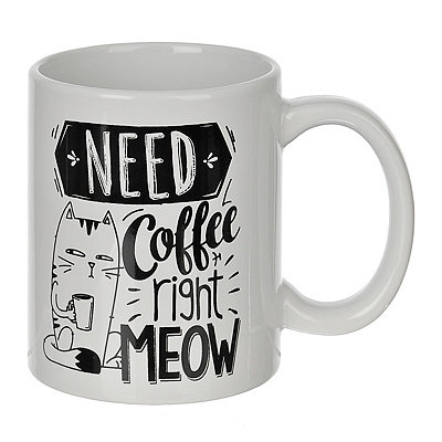 Need Coffee Right Meow Mug